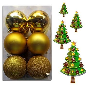 wkg05 weihnachtskugeln christbaumkugeln baumschmuck weihnachtsbaumschmuck deko 12er gold