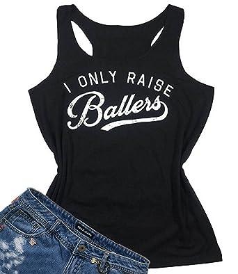 b8563719851e3 Amazon.com  I Love My Baseball Boys Funny Graphic Tank Tops Women s  Sleeveless T-Shirt Tee  Clothing