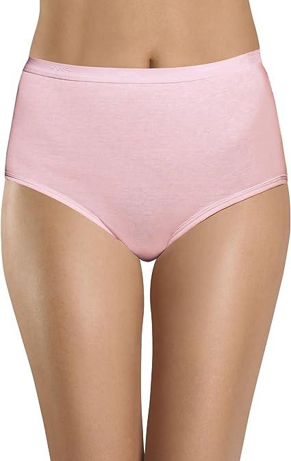 3 Pack Women/'s Hanes Classics Underwear 100/% Cotton Panties Briefs Sz 5 White