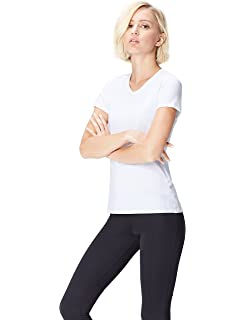 Activewear T-Shirt de Sport à Bande Contrastante Femme  Amazon.fr ... 829baa8e139