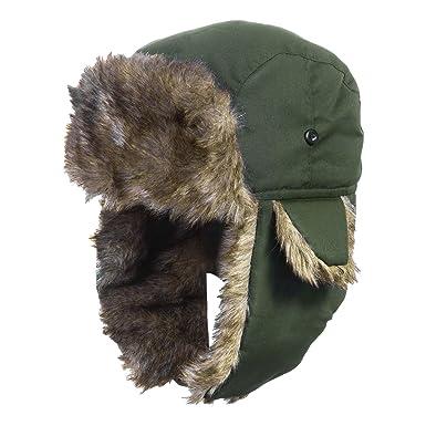d8f4de61ec5 DYAPP Men s Unisex Warm Waterproof Ski Trapper Hat with Ear Flaps Trooper  Hunting Hats