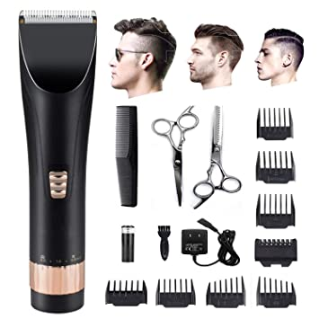 [2018 New Version]Professional Trimmer & Professional Hair Clippers  Cordless Rechargeable Hair Trimmer