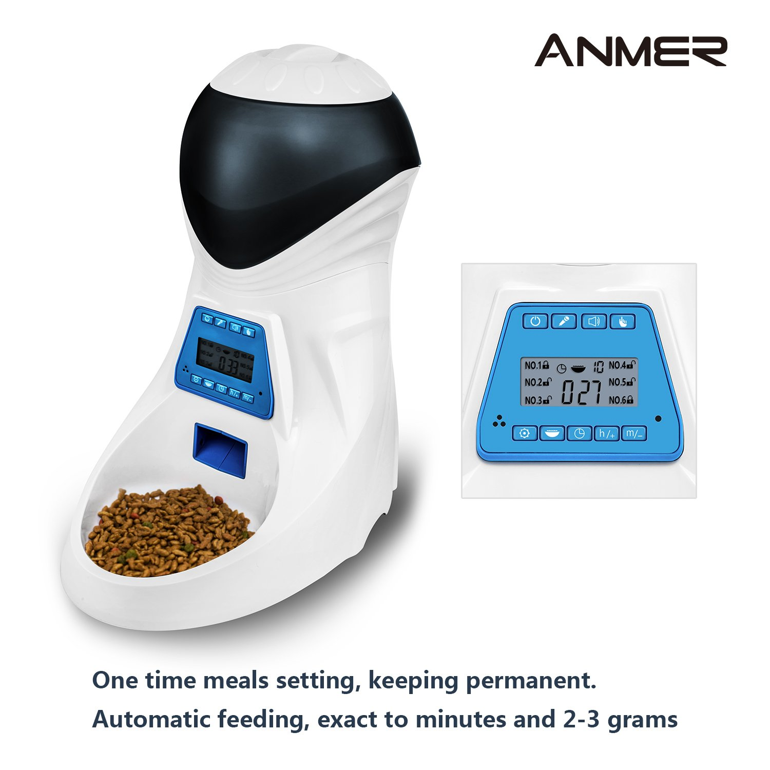 display ownpets dog lcd voice automatic timer feeder pet with programmable product