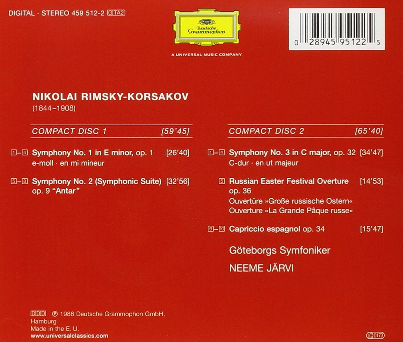 Rimsky-Korsakov: The Complete Symphonies, Russian Easter Festival Overture, Capriccio Espagnol by Deutsche Grammaphon