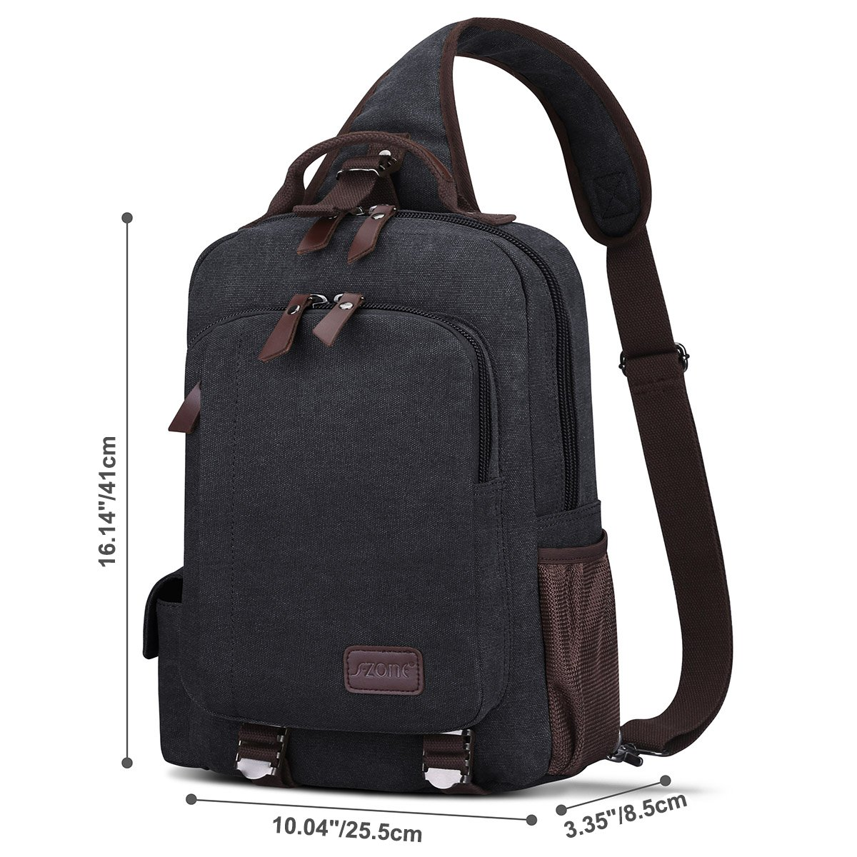 S-Zone Sling Bag for Men Chest Shoulder Gym Backpack Sack Satchel Outdoor Crossbody Pack (Dark Gray) S-ZONE D04V863A