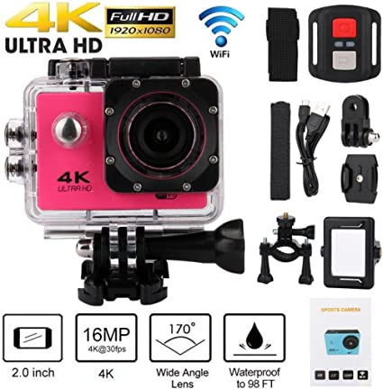 Full-HD Action Camera Sport Camcorder Waterproof DVR 1080P//4K WiFi Remote Go Pro