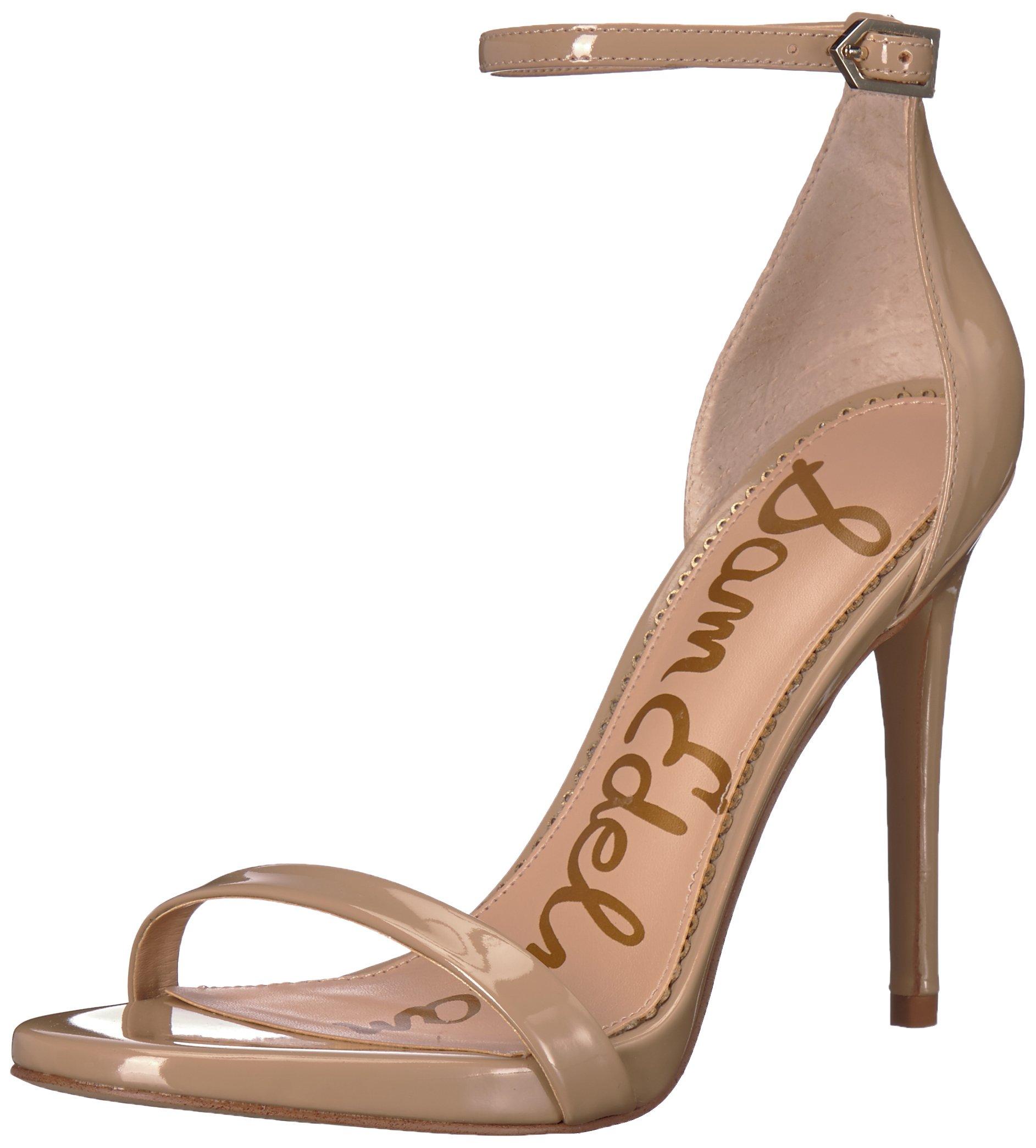 Sam Edelman Women's Ariella Heeled Sandal, Classic Nude Patent, 6 M US
