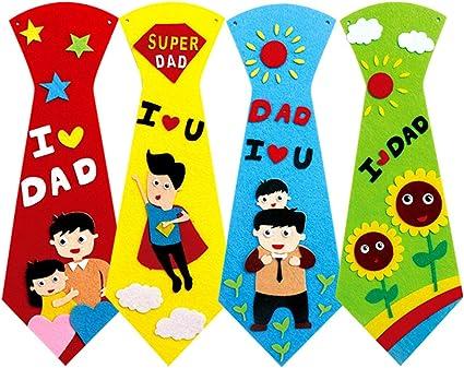 TOYANDONA Cuatro Corbatas caseras para niños,Juguetes sin hilar ...