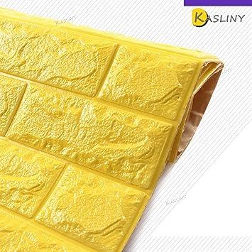 5 Stüc 3D Ziegel Tapete, Wandaufkleber Stereo Wandtattoo Papier Abnehmbare  Selbstklebend Tapete Für Schlafzimmer Wohnzimmer
