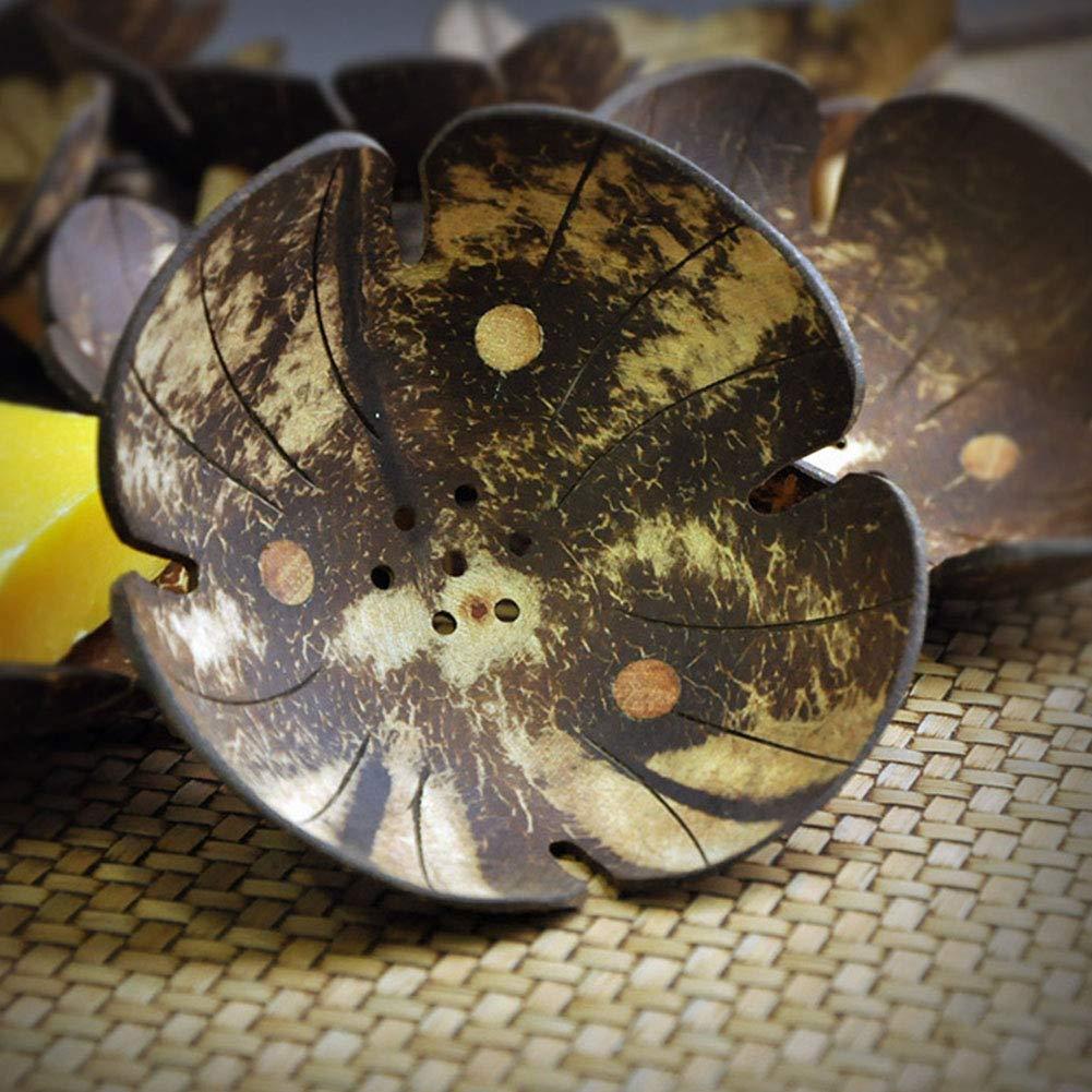 Handmade Art Craft Naturale Guscio di Cocco Bagno Contenitore portasapone LYCOS3/portasapone 1PC Home Use Soap Savers Dish//Holder