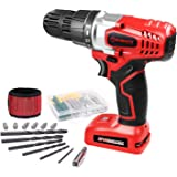 WORKSITE 8V Electric Cordless Drill Screwdriver with 1300mA Lithium-Ion Battery, 16 Position Keyless Clutch, Variable Speed S