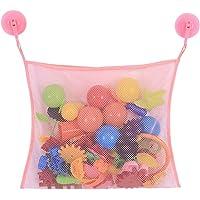 Badkamernetje badspeelgoed opbergen met 2 zuignappen, groot badspeelgoed, organizer, speelgoednet voor badkuip…