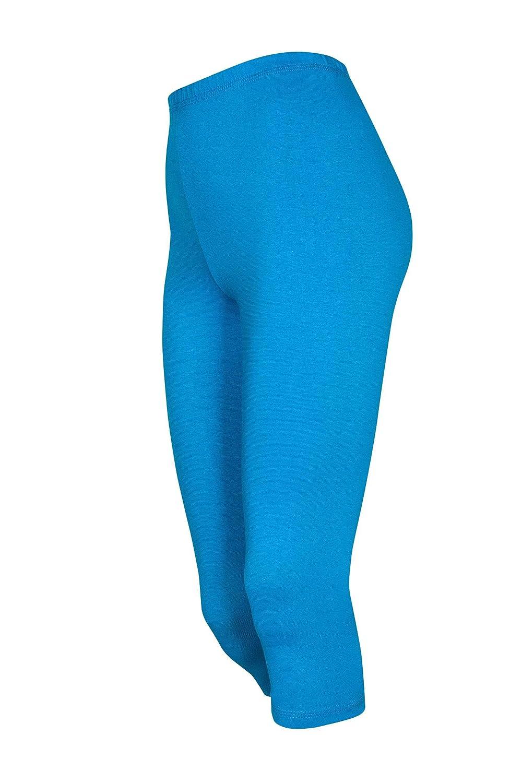 DeDavide Damen Squash Shorts in 3/4 Größe aus Baumwolle, 16 verschiedene Farben