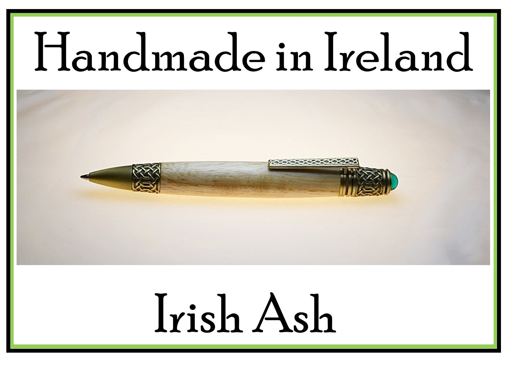 Irish handmade Celtic knot pen made with Irish Ash you can personalize the pen body best pen for smooth writing rollerball pen a gift writers would love Irish gifts made in Ireland