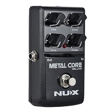 ammoon NUX METAL CORE DELUXE Guitarra Eléctrica Pedal de Efectos de Distorsión con 2 Voces de Distorsión de Metal EQ de 2 Bandas Reducción de Ruido ...