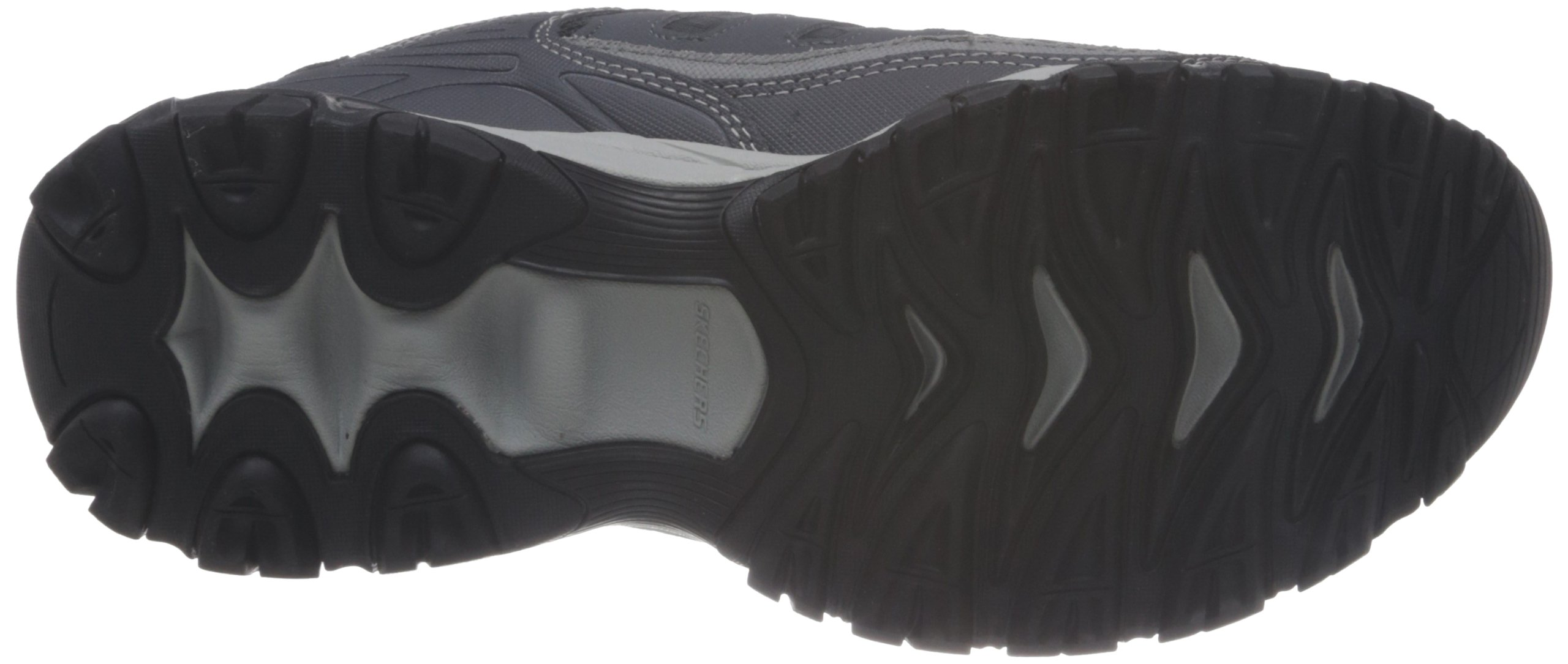 Skechers Sport Men's Afterburn Memory Foam Lace-Up Sneaker, Charcoal, 7 M US by Skechers (Image #3)