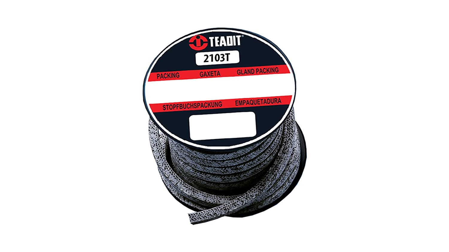 Spool Spool 7//8 CS x 1 lb 7//8 CS x 1 lb PTFE Impregnated Sterling Seal and Supply STCC 2103T.875x1 2103T Teadit Style Braided Packing Carbon Yarn