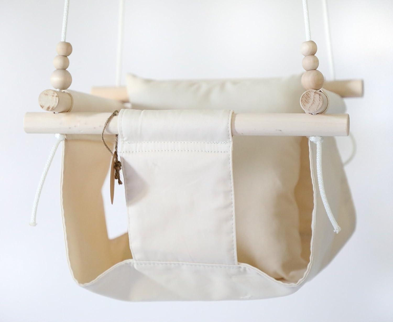 Indoor/Outdoor Beige Natural Baby Fabric Swing