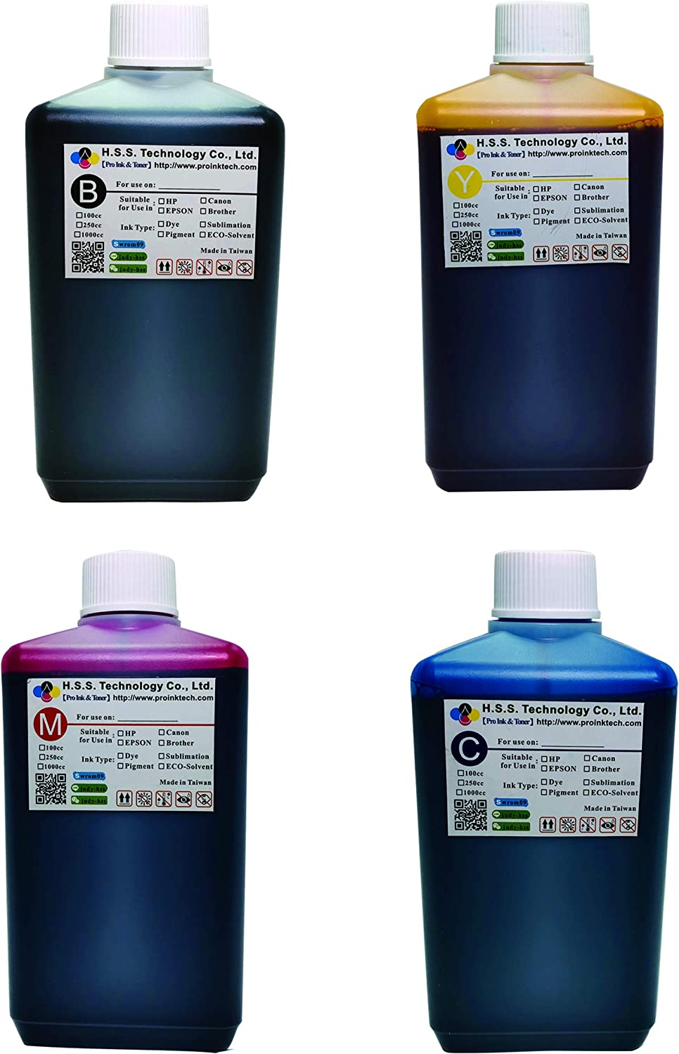 PRO INK&TONER Refill Compatible Ink (1000ml / 1Set), Newest Nanometer Technology for HP C4280 C4385 C4480 C4580 C5280 D4260 D4360 D5360 J5780 J6480