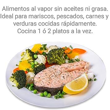 MovilCom® - Olla a vapor 2 niveles Microvap | cocinar al vapor | vaporera microondas
