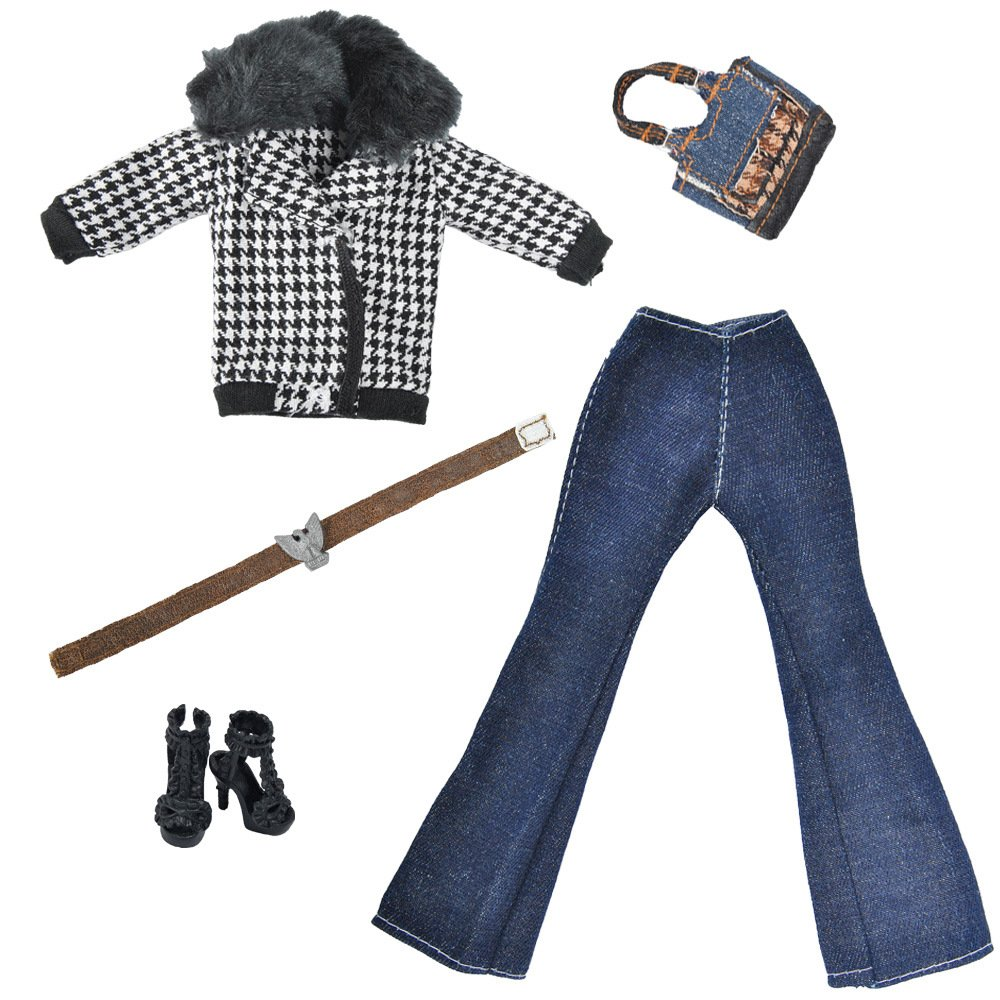 Scarpe per Barbie Doll elegantstunning Doll Vestiti Camicia Pantaloni Invernali Ideale per l Inverno Maglione Pantaloni Borsetta