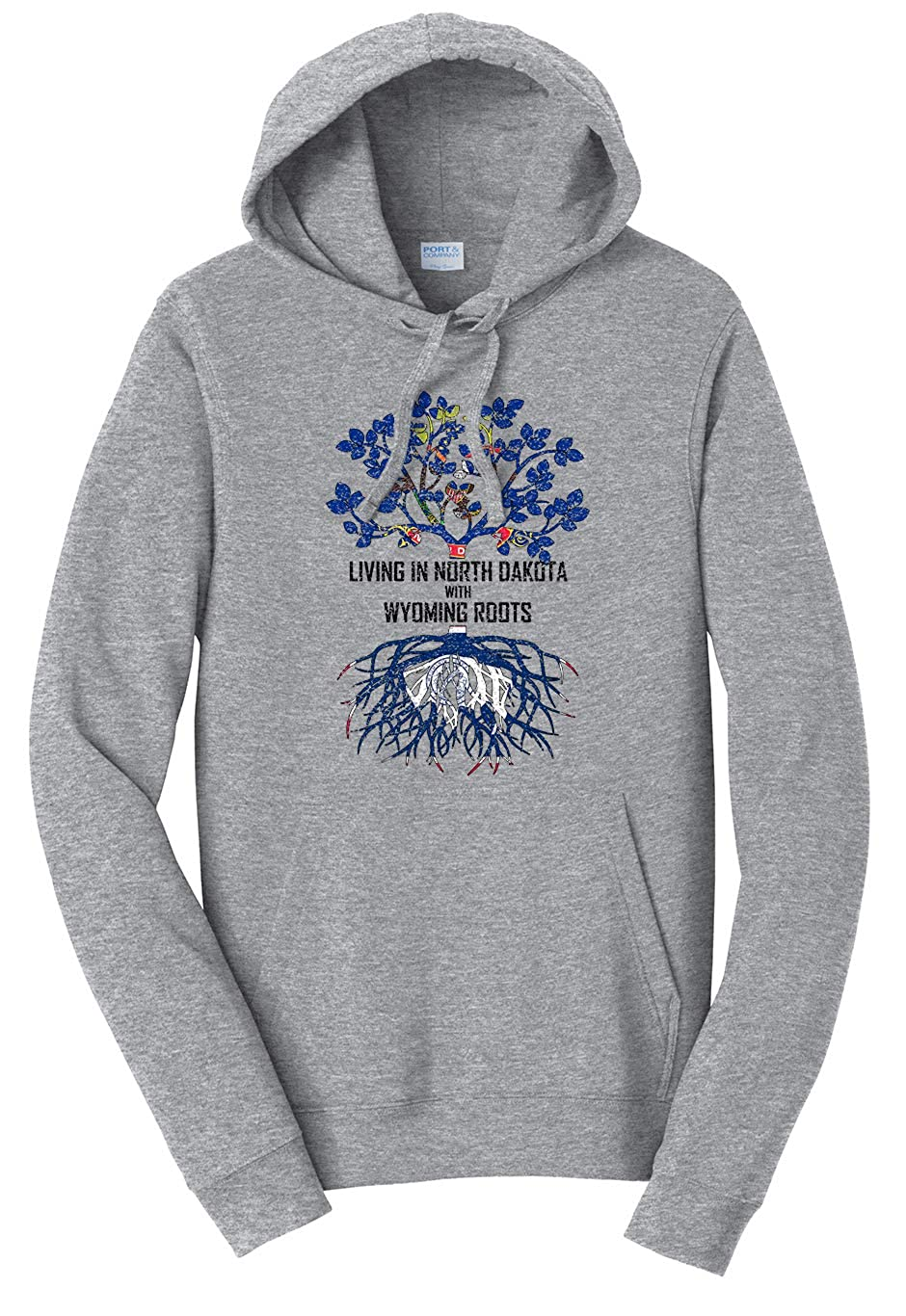 Tenacitee Unisex Living in North Dakota Wyoming Roots Sweatshirt
