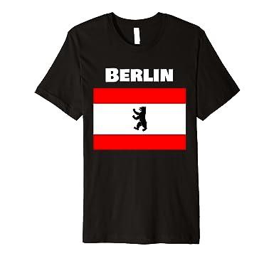 Amazon Berlin Bear German Souvenir T Shirt Berlin Symbol Flag