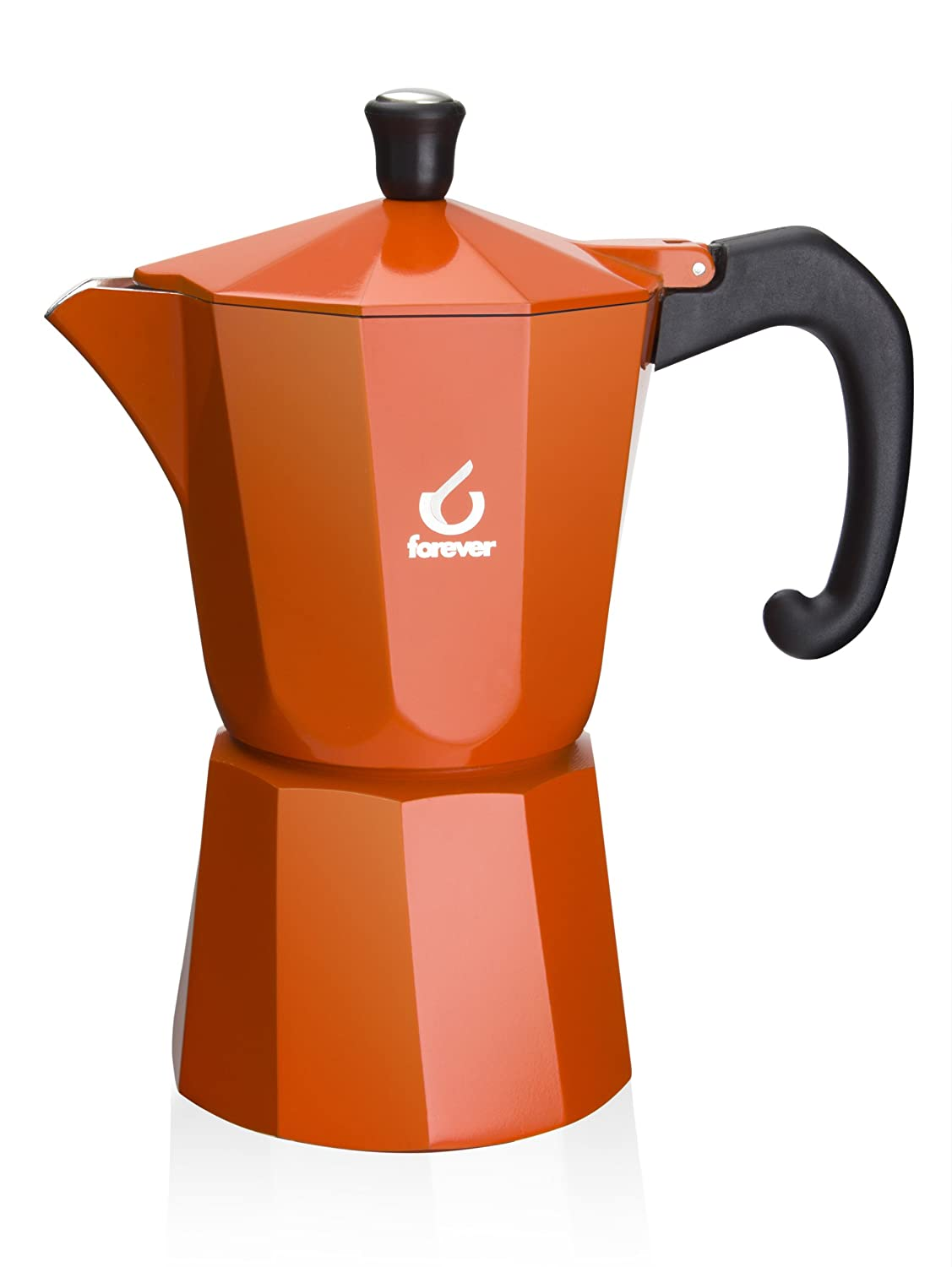 Forever KG120166 Super Colour 6 Cup Espresso Pot, Orange Gilberts