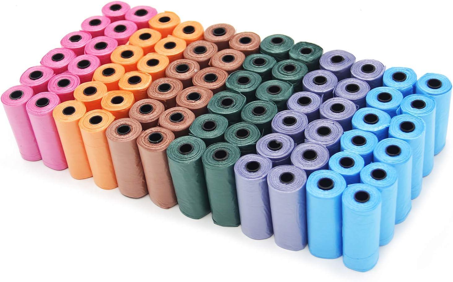 BPS (R) Bolsas de Caca de 72 Rollos, Total 1080 Bolsas, Poop Bag para Perro, Mascotas, Animales Domésticos. (72 Rollos) BPS-2329-1