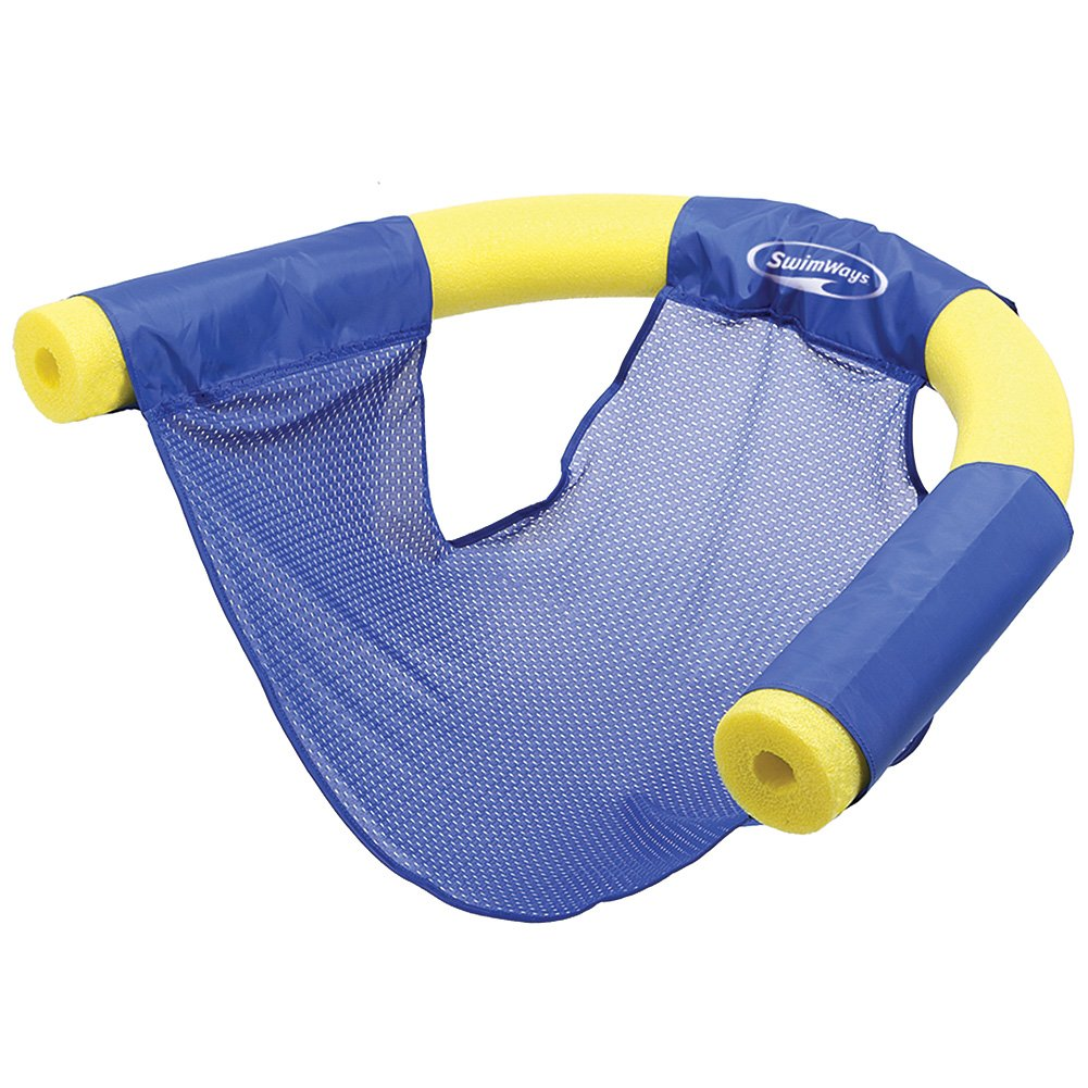 SwimWays (Set/6) Summer Fun Floating Pool Noodle Sling Mesh Chairs - Blue by SwimWays (Image #3)