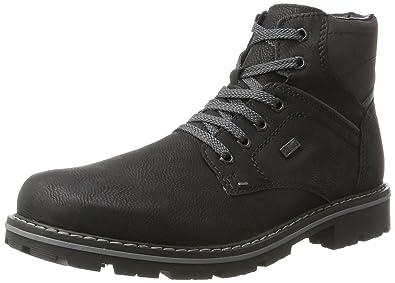 Mens 34020 Classic Boots, Black/Charcoal, 6.5 UK Rieker
