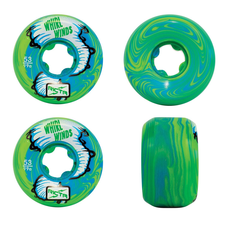 日本製 Ricta スケートボードホイール B07P6SHDM9 Whirlwinds ブルー/グリーン 渦巻き 53mm 53mm 99A 99A B07P6SHDM9, 松ちゃん堂:ed77114c --- mvd.ee