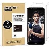 [2 Pack] Pellicola Vetro Temperato Huawei Honor 7X [Garanzia a Vita], iVoler ** [Protezione Antigraffi] **Anti-riflesso Ultra-Clear** Ultra resistente in Pellicola Huawei Honor 7X, Pellicola Protettiva Protezione Protettore Glass Screen Protector per Huawei Honor 7X.Vetro con Durezza 9H, Spessore di 0,2 mm,Bordi Arrotondati da 2,5D