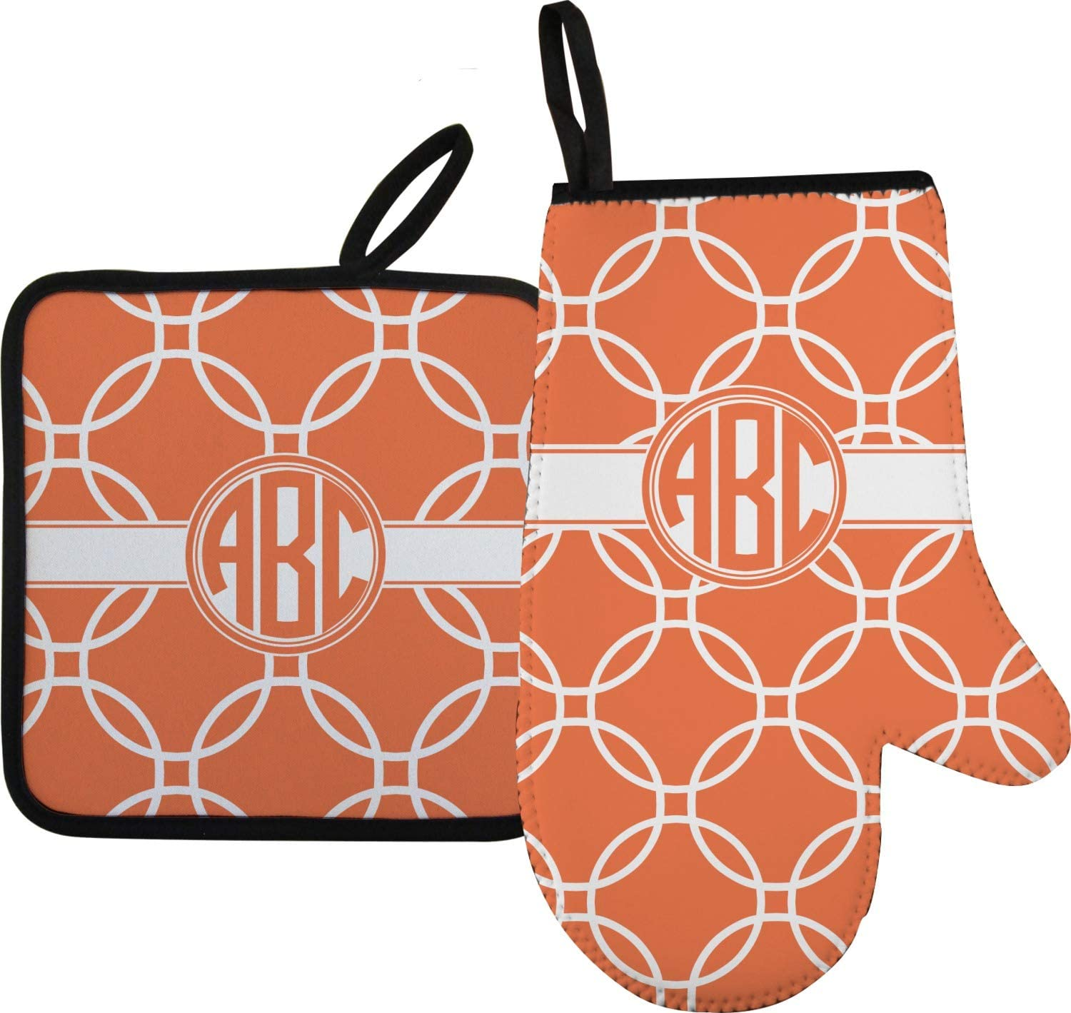 YouCustomizeIt Linked Circles Oven Mitt & Pot Holder (Personalized)