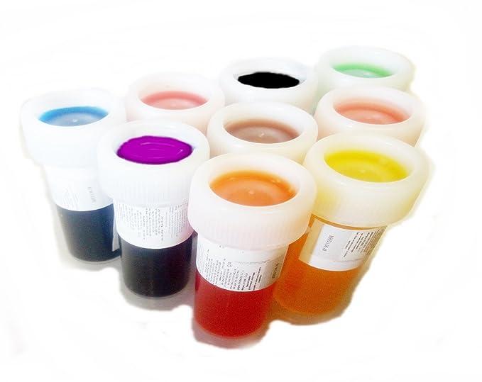 colores de alimentos líquidos en súper set de 9 unidades: Amazon.es ...