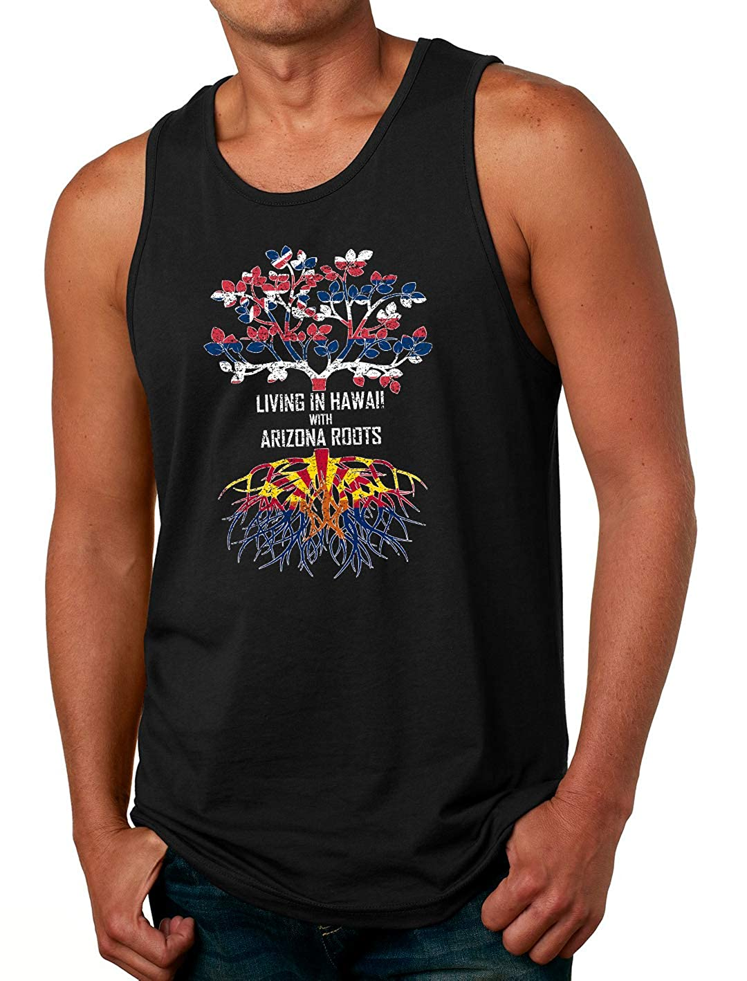 Tenacitee Mens Living in Hawaii Arizona Roots T-Shirt