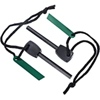 2 Pieces Fire Starter Magnesium Flint Stone Survival Tool Kit for Outdoor Camping Living Survival