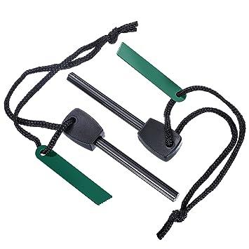 2 Piezas Encendedor de Fuego Kit de Herramienta de Supervivencia Piedra Pedernal de Magnesio para Supervivencia