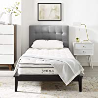 "Modway Ultimate Quilted Pillow Top 10"" Jenna Innerspring Mattress - Individually Encased Pocket Coils - 10-Year Warranty"