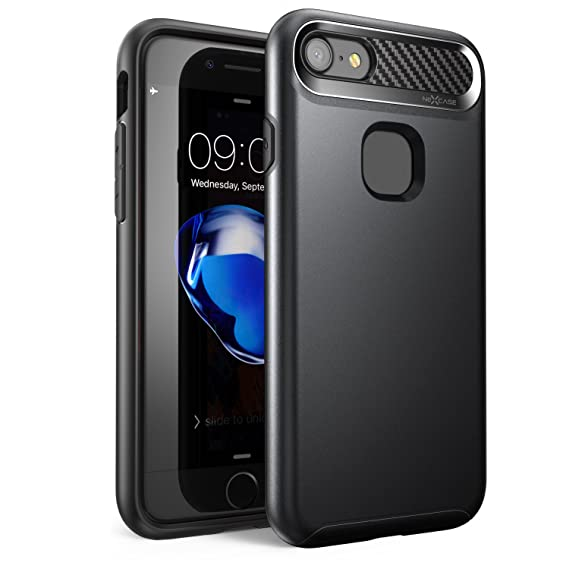 competitive price 6204a f171a iPhone 7 Case, iPhone 8 Case ,NexCase Korona Series [Dual Layer][Ultra  Slim] Hybrid TPU Hard Outter Shell Drop Protection for Apple iPhone 7 ...