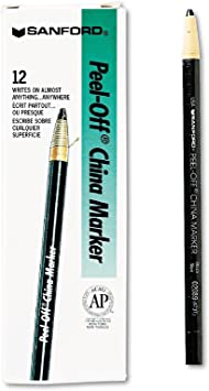 SHARPIE CHINAGRAPH BLUE CHINA MARKER PENCILS PACK OF 3