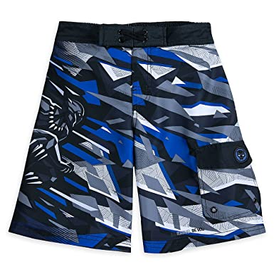 ced7fc6ccc Amazon.com: Marvel Black Panther Swim Trunks for Boys: Clothing