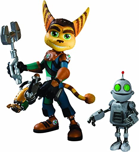 Ratchet Clank Series 1 Ratchet With Transforming Clank Action