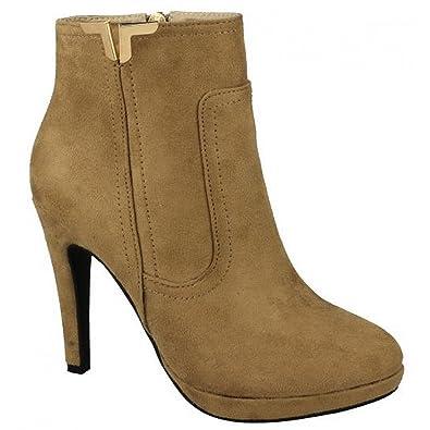 Spot on Damen Ankle Boots mit hohem Absatz (38 EU) (Nude) rrgNLoxQ