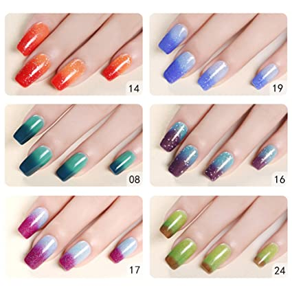 niceyo 10 ml uñas cambio de color de temperatura Gel Polish Colorful Fancy colores largo Duradera. Pasa ...
