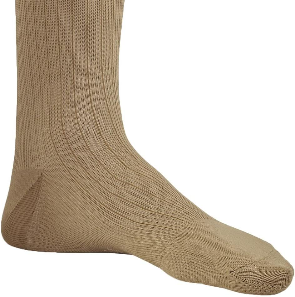 Ames Walker AW Style 129 Mens Micro//Cotton Dress 15 20 Knee High Socks Khaki SM