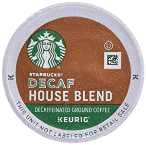 Starbucks Decaf House Blend Coffee K-Cups, 48 Count