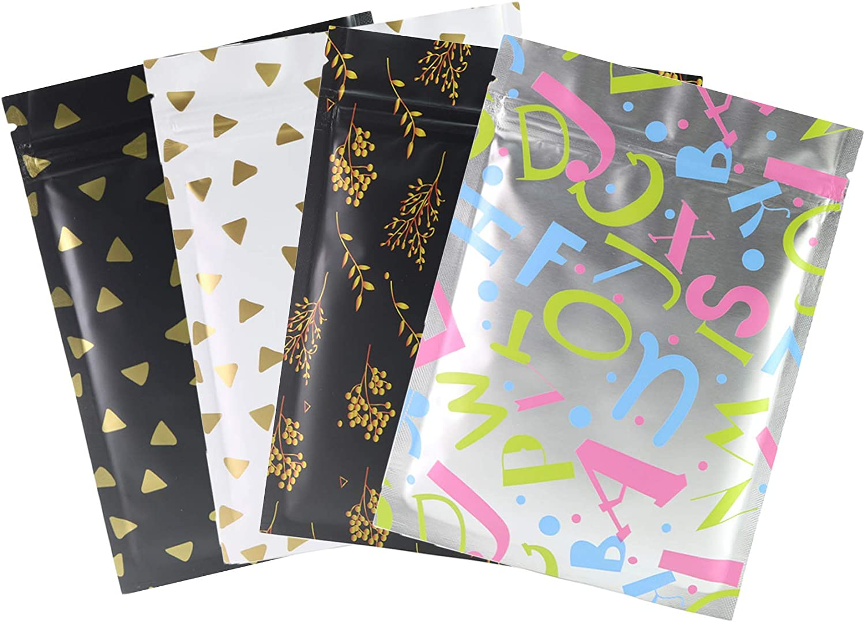 QQ Studio 100 Matte Flat Food Grade Design Storage Ziplock Bags (1oz (3.5