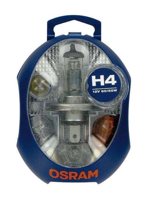 5 opinioni per OSRAM Minibox H4- 1 lampada di ricambio per proiettori +5 lampade ausiliarie +3