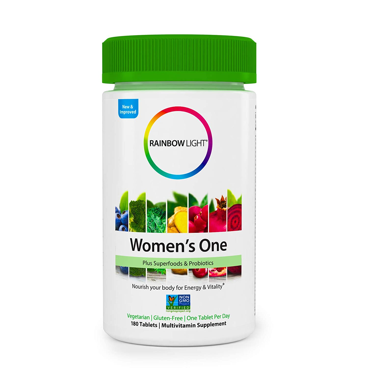 Rainbow Light Women s One Multivitamin Supplement Netcount, 180 Tablets 180Count